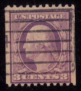 US Sc 489 USED Violet Perf 11 Horiz. F-VF