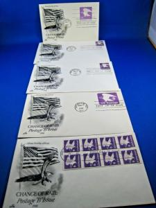 U.S. FIRST DAY COVER SETS - LOT of 5 - 1981 B ISSUE      (FDC-30x)