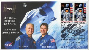 20-103 -1, 2020, ISS Mission Control, Pictorial Postmark, Event Cover,Houston TX