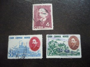 Stamps - Cuba - Scott# 549,C127-C128 - Used Set of 3 Stamps