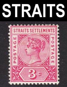 Malaya Straits Settlements Scott 84 F+ mint OG HR.