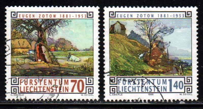 Liechtenstein # 1089 #1091 ~ Short Set of 2 ~ Used, HMR ~ cv 3.35