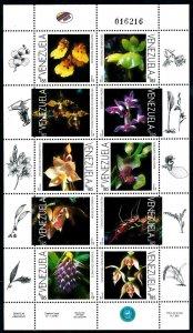 [79953] Venezuela 1998 Flora Flowers Blumen Orchids Sheet MNH
