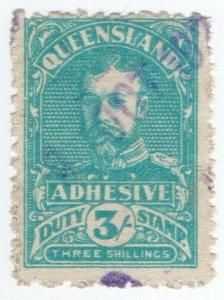 (I.B) Australia - Queensland Revenue : Adhesive Duty 3/-