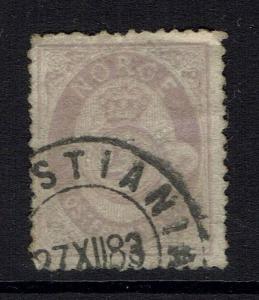 Norway SC# 28, Used, Minor Creasing -  Lot 030517