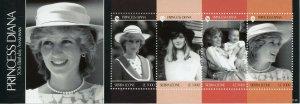 Sierra Leone Royalty Stamps 2011 MNH Princess Diana 50th Birthday 4v M/S