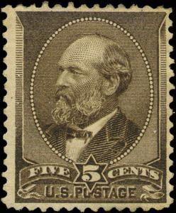 1882 US #205 A56 5c Mint Original Gum Stamp Catalogue Value $240
