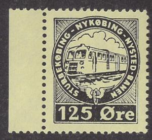 Denmark  / Nykobing - Nysted RR stamp Mint NH VF