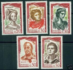 France  Scott 997-1001 MH* Complete set CV 7 Euros