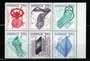 J23094 JLstamps 1984 sweden set mnh #1496-1501 designs