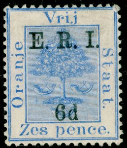 SOUTH AFRICA - Orange Free State SG137, 6d on 6d blue, M MINT.
