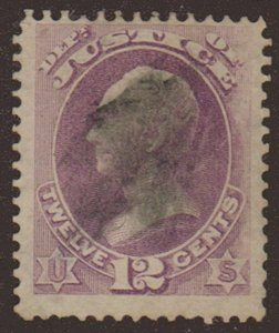 MALACK O30 F/VF, nicely centered, rare stamp w6668