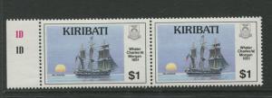 KITIBATI - Scott 514 - MNH - Ships -1989 - Joined Pair of stamps