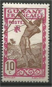 FRENCH GUIANA, 1929, MH 10c, Carib Archer Scott 114