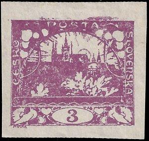 Czechoslovakia 1918 Sc 1 MH VF