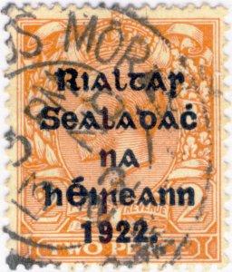 IRLANDE / IRELAND / EIRE - 1922  CEANANNUS MÓR  (Kells, Co. Meath) cds on SG34