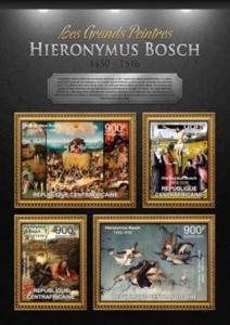 Central Africa - Artist Hieronymus Bosch - 4 Stamp Sheet - 3H-376