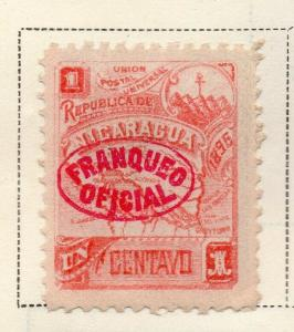 Nicaragua 1896-97 Early Issue Fine Mint Hinged 1c. Official Optd 323748