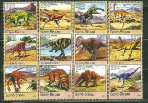 Guinea-Bissau MNH Set Of 12 Dinosaurs MUST SEE!!!!