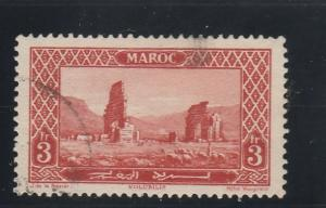 French Morocco  Scott#  113  Used  (1927 Roman Ruins)