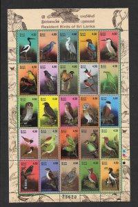 BIRDS - SRI LANKA #1443 SHEET OF 25  MNH