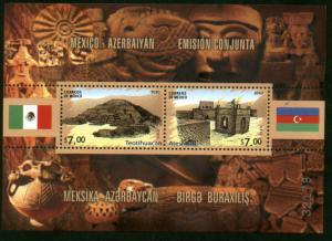 MEXICO 2699, Mexico-Azerbaijan Joint Issue Souvenir Sheet. MINT, NH. F-VF.