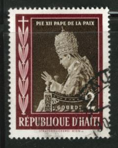 HAITI Scott 446 used 1959 Pope Pius XII stamp
