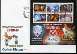 GUINEA BISSAU  2021 GLOBAL BATTLE AGAINST THE VIRUS GAVI ALLIANCE SHEET  FDC
