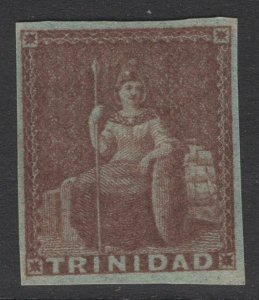 TRINIDAD SG7 1853 1d BROWNISH RED MTD MINT