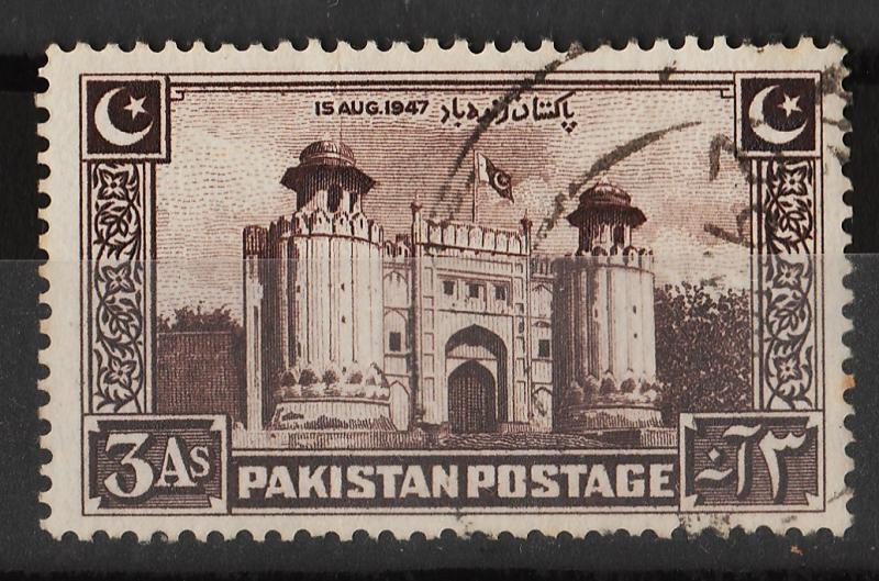 Pakistan 1948 Independence3A (1/4) USED Sc(22)