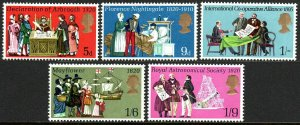 Great Britain 612-616, MNH. Events. Declaration of Arbroath, 1970
