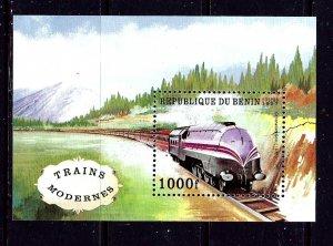 Benin 965 MNH 1997 Train S/S    #2