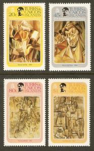 Turks & Caicos #481-4 NH Picasso Birth Cent.