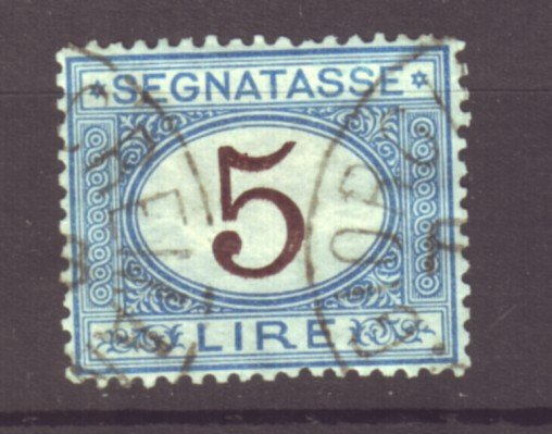 J22617 Jlstamps 1870-25 italy used #j17  postage due