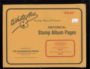 2010 White Ace U.S. Commemorative Plate Block Stamp Album Supplements PB-62