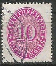 GERMANY, 1930, used 10pf, Numeral Scott O70