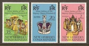 New Hebrides, British #214-16 NH QEII Reign Anniv.