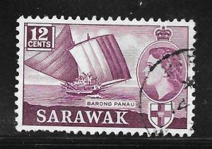 Sarawak 203: 12c Barong Panau, used, F-VF