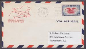 US Planty C23-22 FDC. 1938 6c Air Post w/ St. Petersburg, Florida First-Day X