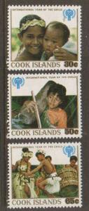 Cook Islands Scott 529-531 MNH** set