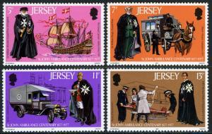 Jersey MNH 175-8 St. Johns Ambulance 1977