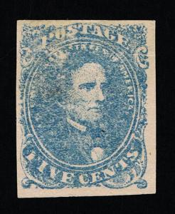 GENUINE CONFEDERATE CSA SCOTT #4 STONE-2 EXPERTLY PLATED TO POSTION 30 MINT OG H
