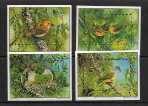 BIRDS - COOK ISLANDS #1020-3  MNH