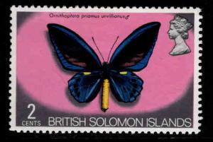 British Solomon Islands Scott 233 MH* butterfly stamp