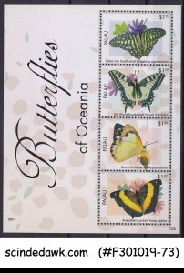 PALAU - 2013 BUTTERFLIES OF OCEANIA - MIN. SHEET MNH