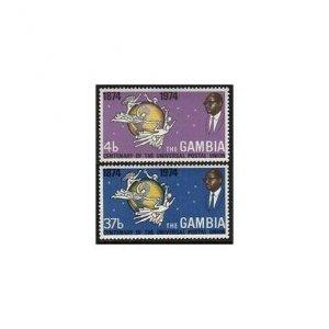 Gambia 304-305 two sets,MNH.Michel 295-296. UPU-100,1974.Emblem,Globe.