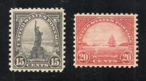 United States #566 & #567 - Unused - O.G.