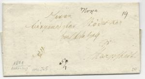 German 1801 Stampless Cover Folded Letter