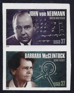 3906 & 3908a - Rare Imperf Error Pair American Scientists Mint NH