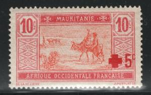 Mauritania 1915 Red Cross Overprint Sc# B1 NH